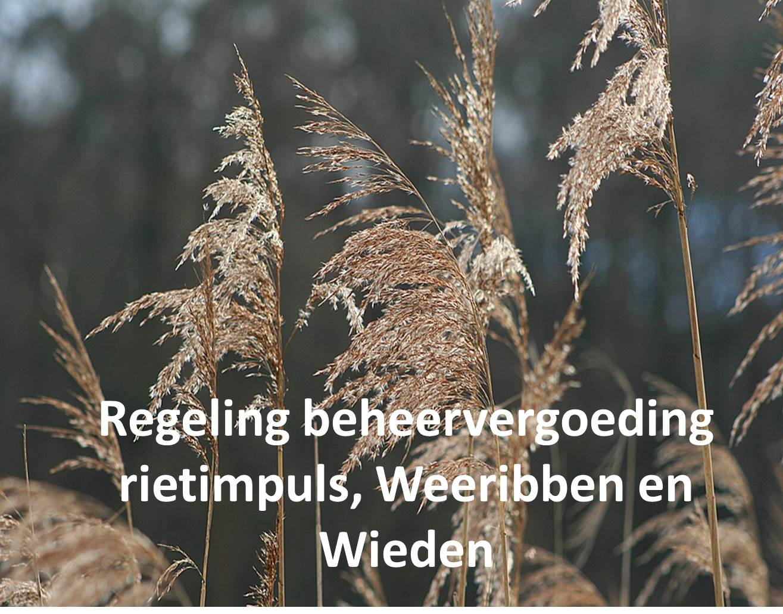 Regeling beheervergoeding rietimpuls, Weerribben & Wieden